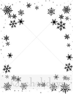 Similiar Winter Black And White Border Keywords