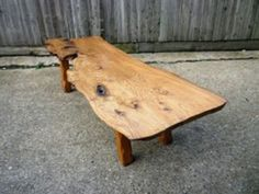 Yew Burr Plank Coffee Table