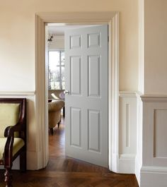 White six panel door design moulding and trim pinterest wood 6 panel grained door internal moulded panel doors doors joinery howdens joinery planetlyrics Choice Image