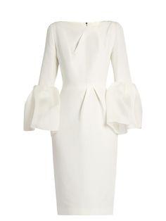 Margot bell-sleeved dupion dress   Roksanda   MATCHESFASHION.COM UK