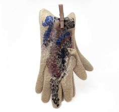 SALE 25% OFF felted gloves seamless handmade-ready to by vilnone