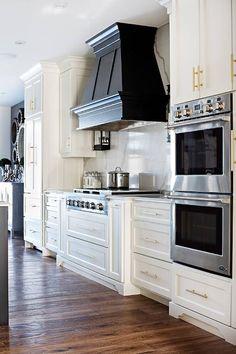 Kitchen Interior Design Remodeling Transitional Kitchen by Sarah St. Kitchen Hoods, Kitchen Stove, Kitchen Redo, Kitchen And Bath, New Kitchen, Kitchen Remodel, Stove Oven, Kitchen Ideas, Kitchen Cooktops