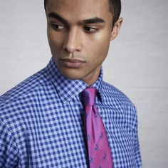 Scenery Check Shirt - Double Cuff by Thomas Pink