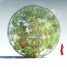 The design for the prefabricated Sphere Greenhouse pavilion, by Japanese architect Sou Fujimoto for Revolution Precrafted