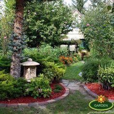 Hát a kis lámpás nem is lényeg, nagyon szép kertet alkotott kedves vásárlónk! Gratulálunk és egy kicsit irigykedünk mert nagyon szép a kert. Merida, Arch, Sidewalk, Outdoor Structures, Garden, Sculptures, Longbow, Garten, Side Walkway