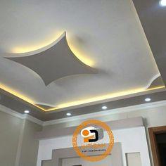 Wall ceiling #LampDecke #CurvedFalseCeiling House Ceiling Design, Bedroom False Ceiling Design, House Design, Simple False Ceiling Design, Ceiling Design Living Room, Floor Design, False Ceiling Living Room, Living Room Lighting, Kitchen Lighting