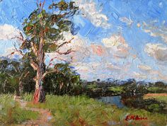 "Near Queenscliff - Vic, Australia by Enoch Hlisic  Oil on canvas board 6"" x 8""  Impressionist oil painting"