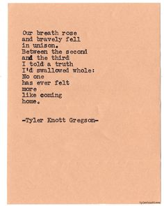 Typewriter Series #886 byTyler Knott Gregson *Pre-Order my book, Chasers of the Light, and donate $2 to @TWLOHA and get a free book plate signed by me :) Click the link in my bio, or go here: tylerknott.com/chasers*