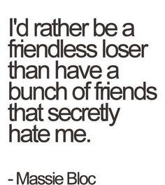 I'd Rather Be Friendless