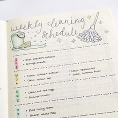 """4 Likes, 1 Comments -  Laura's Bullet Journal  (@bujo_laura) on Instagram: """"I hate cleaning. HATE it. And I know if I'm left to my own devices, I won't do it. So this is my…"""""""