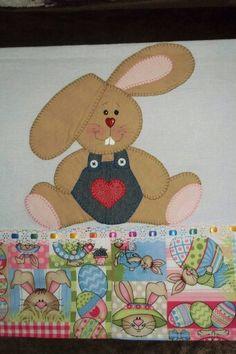 Free Applique Patterns, Baby Applique, Applique Templates, Applique Quilts, Embroidery Applique, Cross Stitch Patterns, Rabbit Crafts, Cottage Crafts, Ideas Hogar