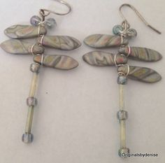 Rainbow Cloud Dragonfly Jewelry, Dragonfly Earrings , Good Luck Dragonfly by Originalsbydenise on Etsy