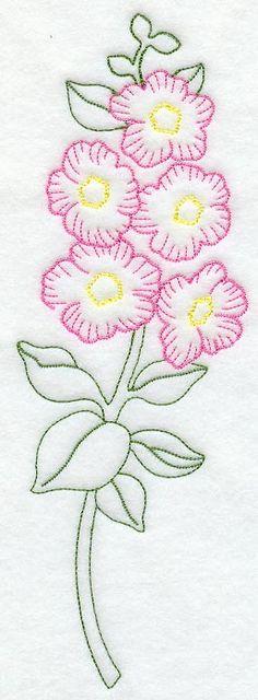 Hollyhock (Vintage) design (C8816) from www.Emblibrary.com