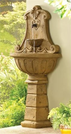 Garden fountains add a distinct element of elegance. Wall fountains are perfect for gardens, patios, or balconies. Indoor and Outdoor garden fountains and decor. Indoor Waterfall Fountain, Patio Fountain, Fountain Design, Tabletop Fountain, Indoor Fountain, Garden Fountains, Wall Fountains, Outdoor Fountains, Small Water Features