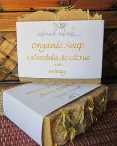 organic-calendula-citrus-soap-with wildflower honey