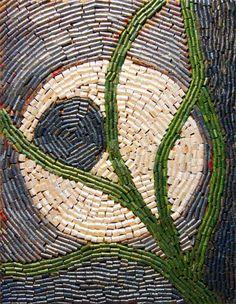 Мозаика из газетных трубочек