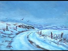How to create a snowy landscape with Ginger Cook a Live Lesson. - YouTube