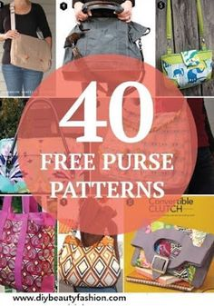 40 Free and Awesome Bag Pattern For Any Sewing Level | Pinterest Goodies