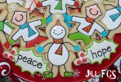 silly snowman / guy with mittens / scarf cookies by Jill FCS on Flickr