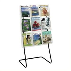 Safco Magazine Display Floor Stand (225 AUD) ❤ liked on Polyvore featuring home, home decor, small item storage, safco, black magazine rack, safco magazine rack, black stand and black home decor