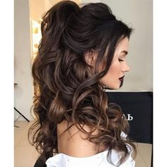 Half Updo Hairstyle for Wedding Guest . Great Half Updo Hairstyle for Wedding Guest . 55 Stunning Half Up Half Down Hairstyles Prom Hair Wedding Hair Down, Wedding Hair And Makeup, Hair Makeup, Makeup Hairstyle, Prom Hair Down, Wedding Half Updo, Prom Makeup, Girls Makeup, Wedding Beauty