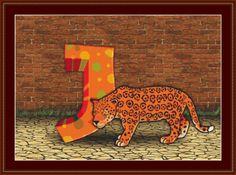 J Is For Jaguar Cross Stitch Pattern