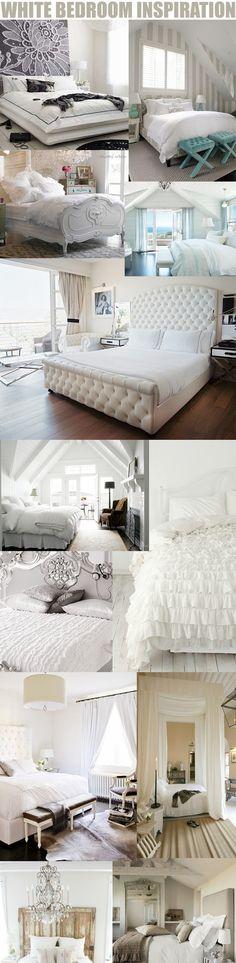 White Bedroom Decor | http://desklayoutideas.blogspot.com