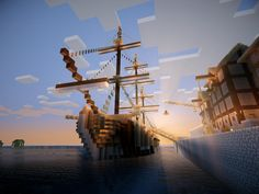 Frigate Minecraft Ship - Oh my gosh! That probably took FOREVERRRR! I could see my brother-in-law Todd doing a project like this! So cool looking!