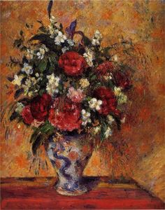 Camille Pissarro - Vase of Flowers, 1877-1878