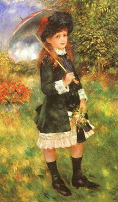 Menina com um guarda-sol, 1883, óleo sobre tela, David-Weill collection, Paris