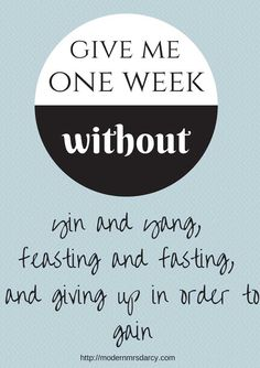 yin and yang, feasting and fasting, and giving up in order to gain