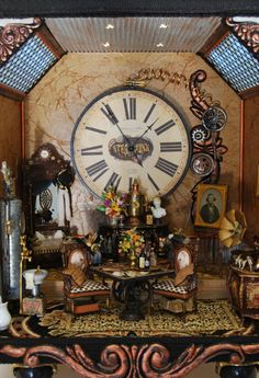 Steampunk roombox by Larrianne's Small Wonders