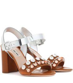 Miu Miu - Embellished leather sandals