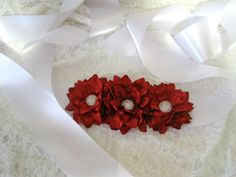 White Three Inch Wide Satin Wedding Sash with by theraggedyrose