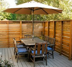 privacy fence for patio view in gallery slatted outdoor privacy fence privacy fence around patio Privacy Fence Designs, Outdoor Privacy, Backyard Privacy, Privacy Fences, Backyard Fences, Patio Decks, Privacy Plants, Backyard Projects, Outdoor Shutters