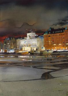 Акварельные пейзажи художника Stanislaw Zoladz (44 картины)