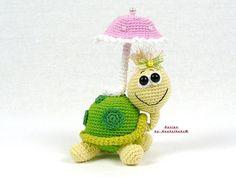 Schildkröte mit Sonnenschirm -- Häkelanleitung von Haekelkeks®