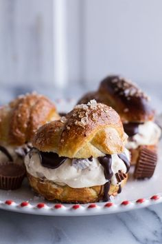 No-Churn Caramel Peanut Butter Cup Soft Pretzel Ice Cream Sammies with Hot Fudge (aka your solution to the Sunday night blues).