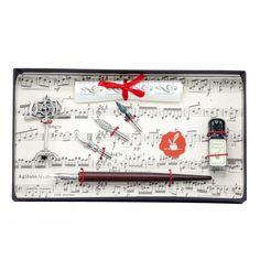 Cadoul perfect pentru un iubitor de arta, set de caligrafie cu toc si accesorii!