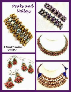 Sweet Freedom Designs: Peaks and Valleys - a New Beadweaving Tutorial by Sweet Freedom Designs