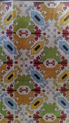 Imagine this pattern done all in Blue and White. Cross Stitch Love, Cross Stitch Patterns, Needlepoint Designs, Crochet Diagram, Diy Projects To Try, Embroidery Patterns, Needlework, Tapestry, Kids Rugs