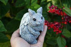 Angel Rabbit  - Bunny Angel Memorial Animal Garden Statues