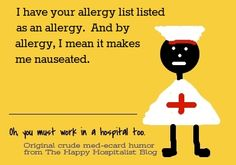 Long list of funny allergies from my readers...