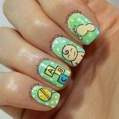 baby shower nails