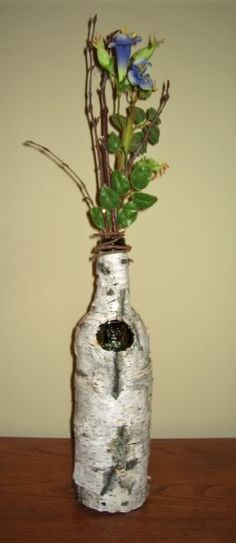 Birch Wine Bottle Vase