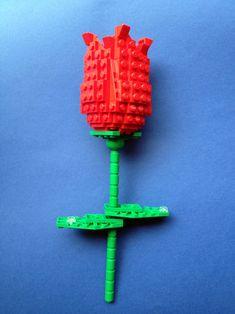 Hi, I built a flower for my wife when I left my dark ages a few years ago. Lego Stuff, Kid Stuff, Lego Friends Storage, Lego Flower, Lego For Sale, Lego Club, Lego Toys, Valentines Food, Lego Design