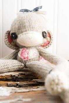 Toy sock moneky cute