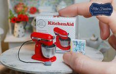 """Miniature KitchenAid mixer / 1"""" scale / dollhouse"""