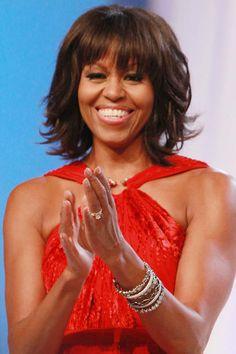 Beautiful bangs icon: Michelle Obama, 2013