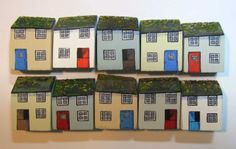 Little cottages in my Etsy shop - jamjarart  by Joy Williams
